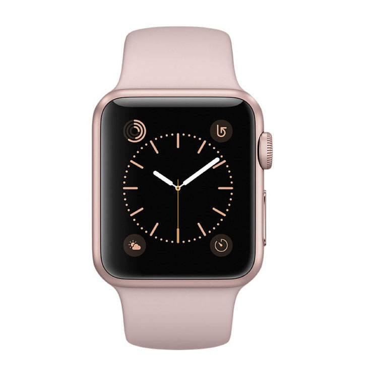 new styles 3354f 548d6 Apple watch - Series 3 42mm case Gold Aluminum Sport Band Pink Sand
