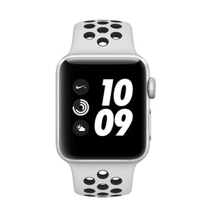 Apple watch - Series 3 42mm case Silver Aluminum Case Nike sport Band Pure Platinum/Black - Azzam Watches