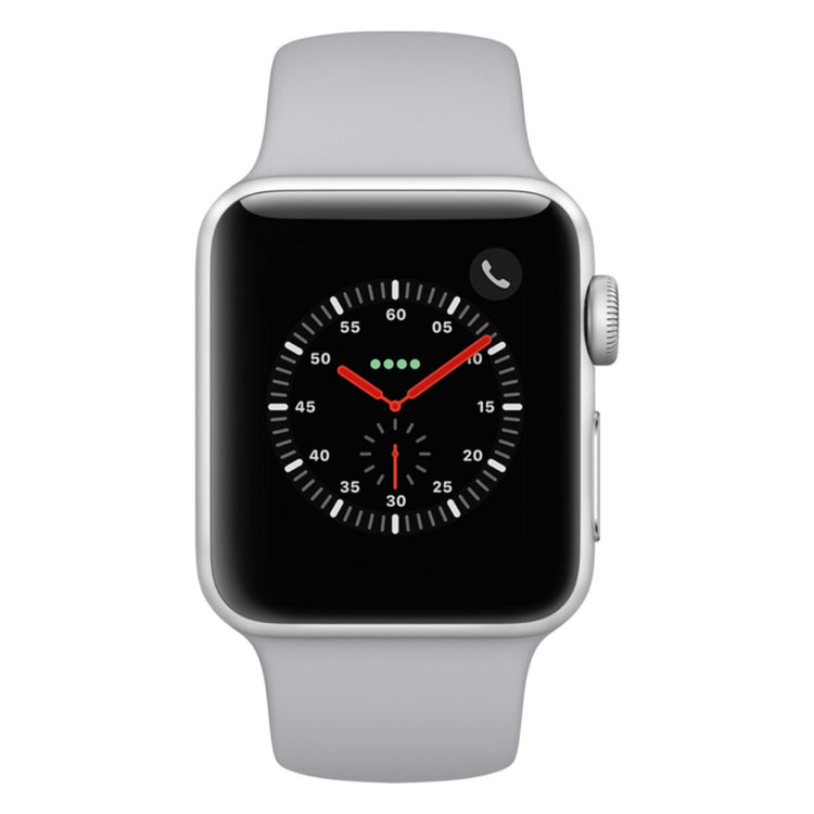 finest selection e58bd 3f02c Apple Watch - Series 3 42mm case Silver Aluminum Case with Fog Sport Band