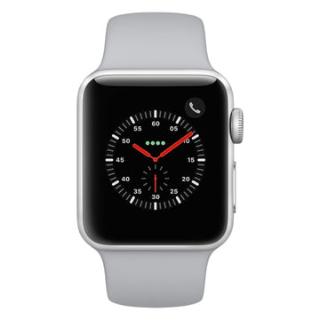 Apple Watch - Series 3 42mm case Silver Aluminum Case with Fog Sport Band
