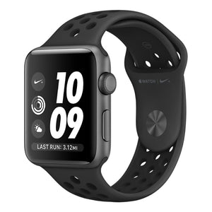 Apple watch - Series 3 42mm Space Gray Aluminum Case Nike Sport Band Anthracite/Black - Azzam Watches