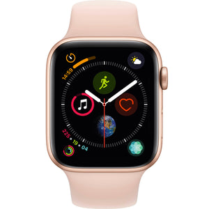 Apple watch - Series 4 44mm case Gold Aluminum Sports Band Pink Sand