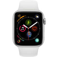Apple watch - Series 4 44mm Silver Aluminum Case White Sports Band