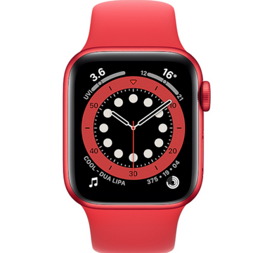 Apple watch - Series 6 40mm Red Aluminum Case Red Sport Band - Azzam Watches