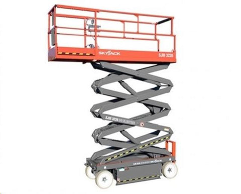 "Scissor Lift 26' x 32"", Electric, Narrow"