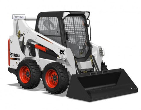 Skid Steer Loader S570 Bobcat with Cab, Pilot Controls