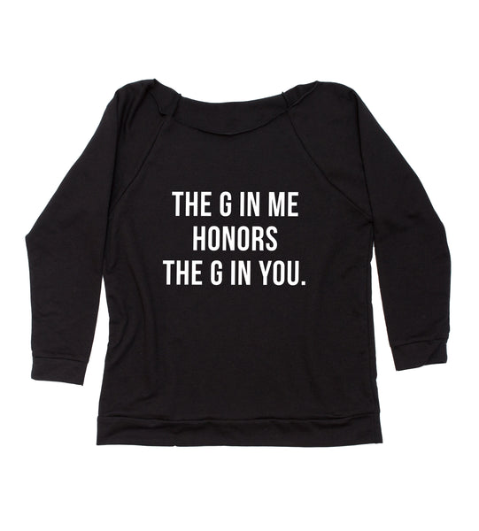 the g in me honors the g in you terry 3/4 sleeve