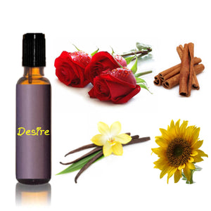 Desire : Natural Luxury Rose Essential Oil Perfume, Aromatherapy Certified