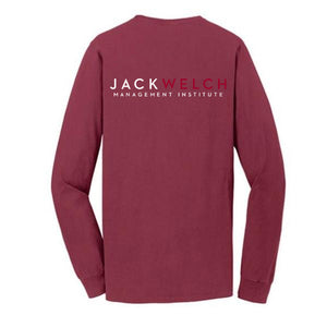 JWMI Pigment-Dyed Long Sleeve Pocket Tee MERLOT