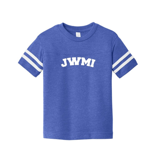 JWMI Rabbit Skins Toddler Football Fine Jersey Tee Vintage Royal/ Blended White