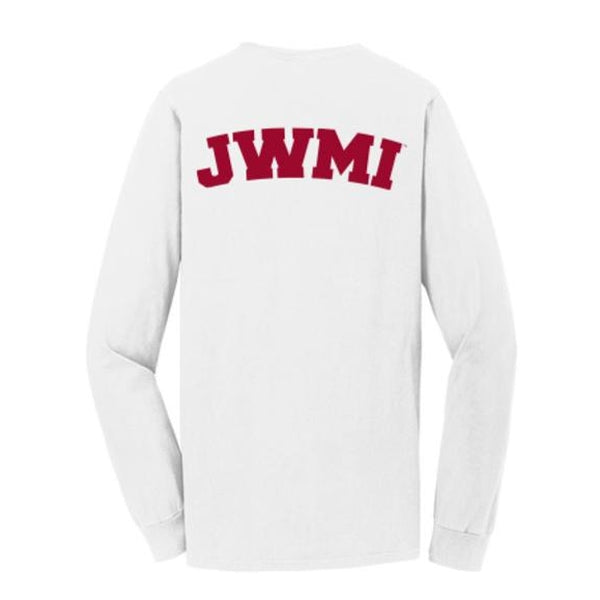 JWMI Pigment-Dyed Long Sleeve Pocket Tee WHITE
