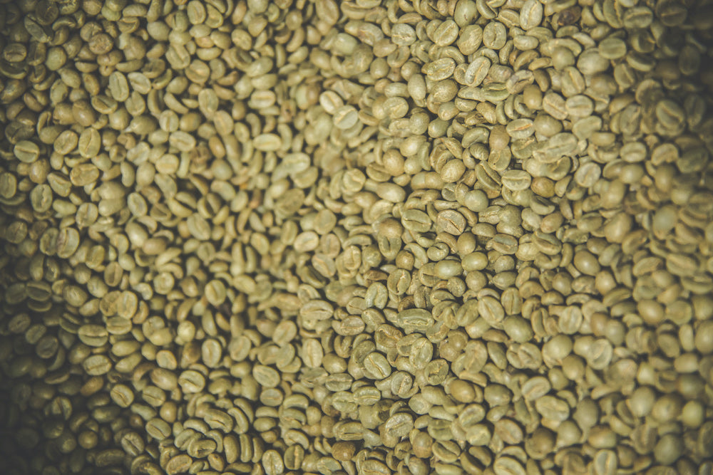 Naturally processed green coffee