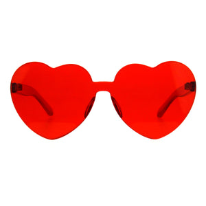 Monoblock Heart Sunglasses