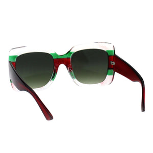 Oversized Square Colorblock Sunglasses
