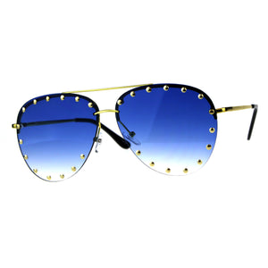 Gold Studs Aviator Sunglasses