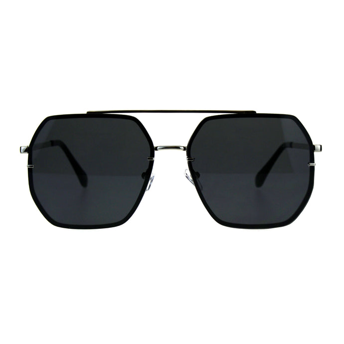 Hepta-Square Aviator Sunglasses