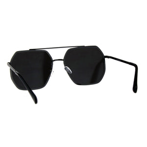 Hepta-Square Mirrored Aviator Sunglasses
