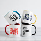 WASH YOUR FUCKING HANDS Mug with Color Inside