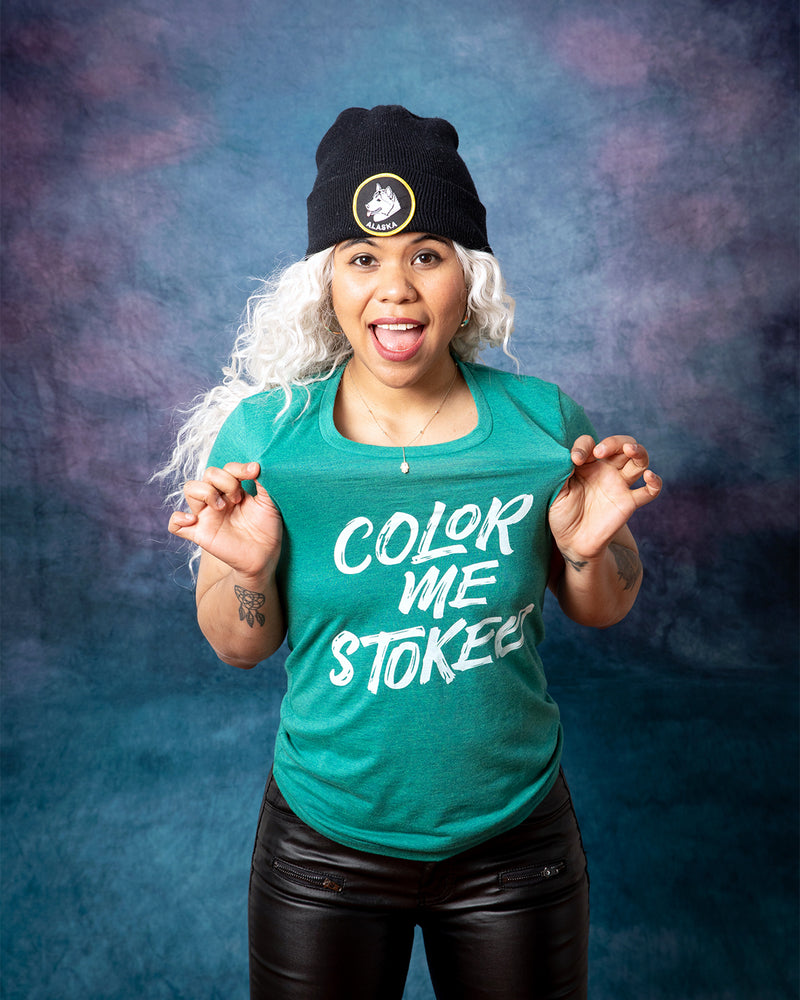 COLOR ME STOKED Women/Junior Fitted T-Shirt