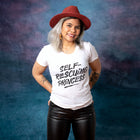 SELF-RESCUING PRINCESS Women/Junior Fitted T-Shirt