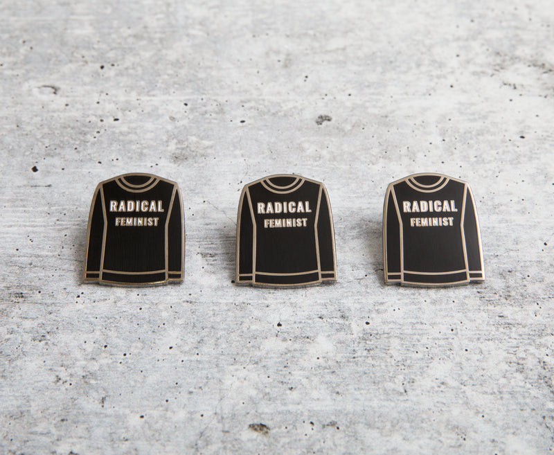 David's Sweater Collection lapel pin