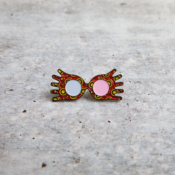 SECONDS SALE -- LUNA GLASSES lapel pin -- Slightly Imperfect