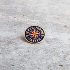 FURTHER FASTER lapel pin