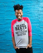 BEARS BEETS BATTLESTAR Unisex 3/4 Sleeve Baseball Shirt