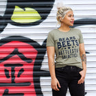 BEARS BEETS BATTLESTAR Women/Junior Fitted T-Shirt