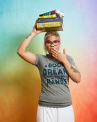 A BOOK IS A DREAM Women/Junior Fitted T-Shirt