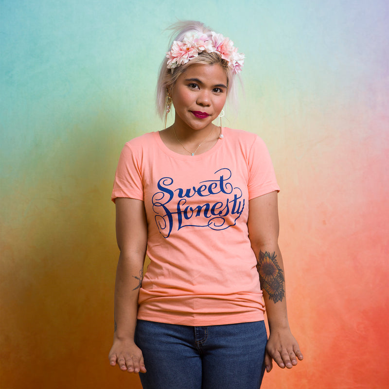 SWEET HONESTY Women/Junior Fitted T-Shirt