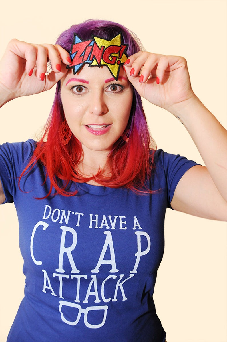 CRAP ATTACK Women/Junior Fitted T-Shirt