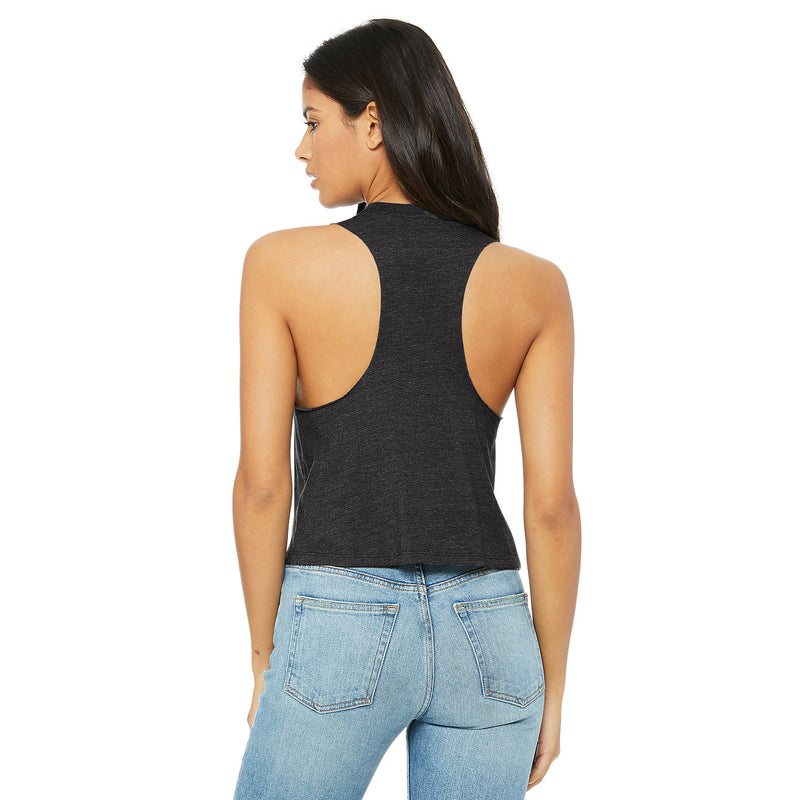 QUEEN IN THE NORTH Women's Racerback Cropped Tank
