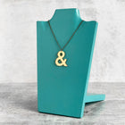 SECONDS NECKLACE SALE -- AMPERSAND Mirrored Gold Acrylic Necklace