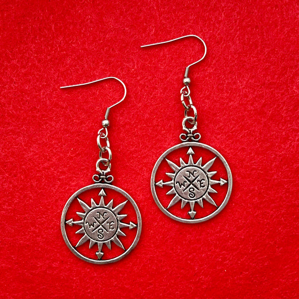 SECONDS SALE --COMPASS Earrings