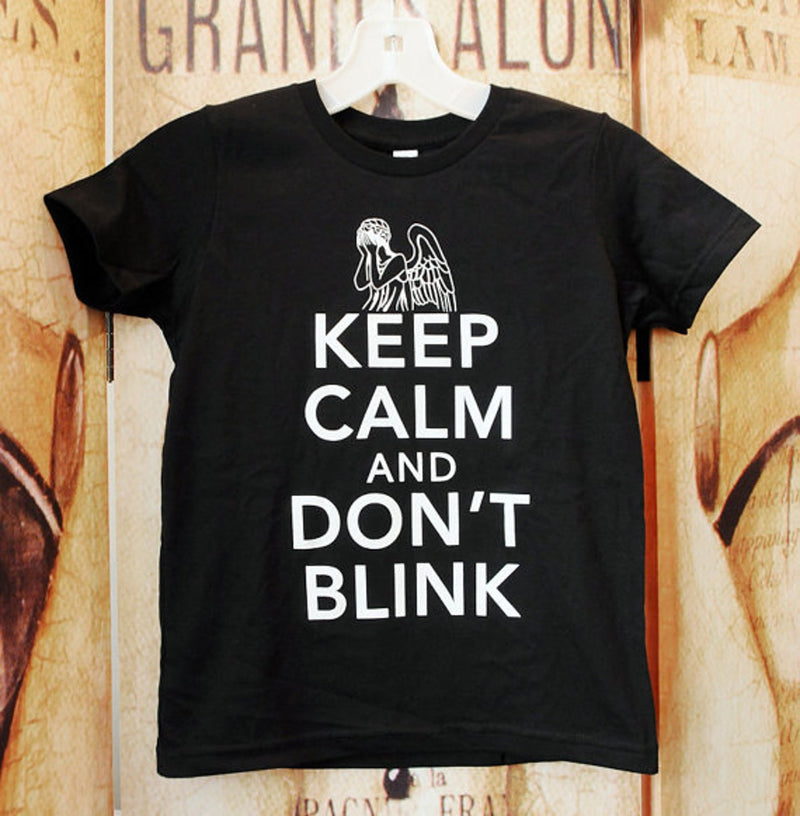 KEEP CALM & DON'T BLINK Kids T-shirt
