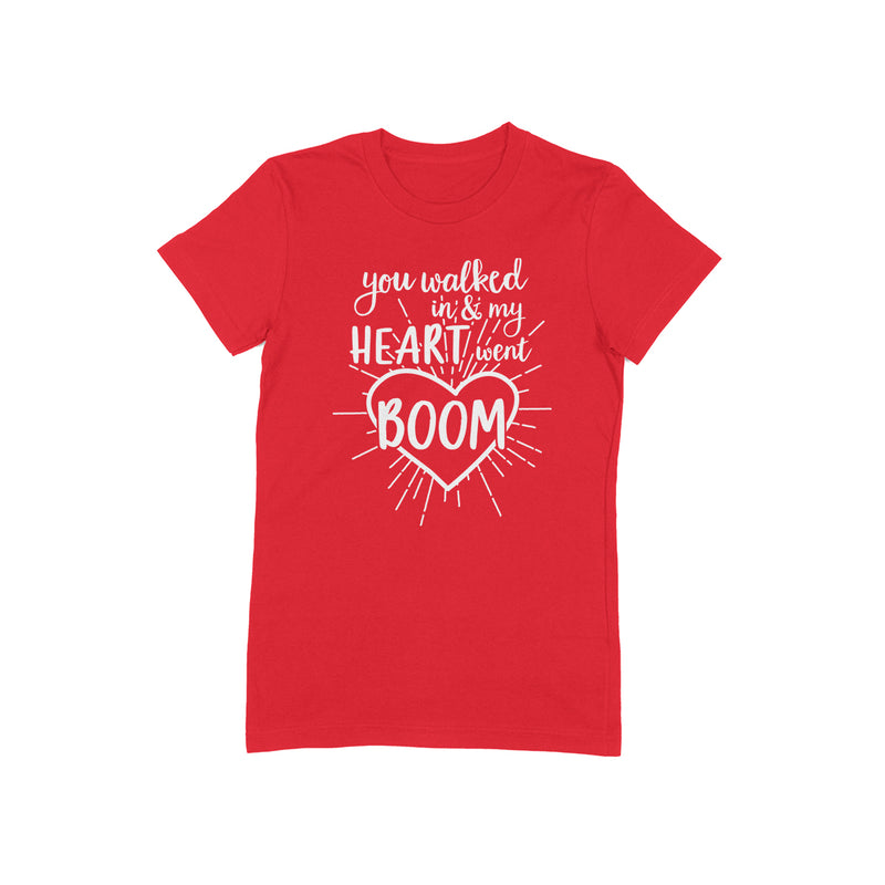 MY HEART WENT BOOM Women/Junior Fitted T-Shirt