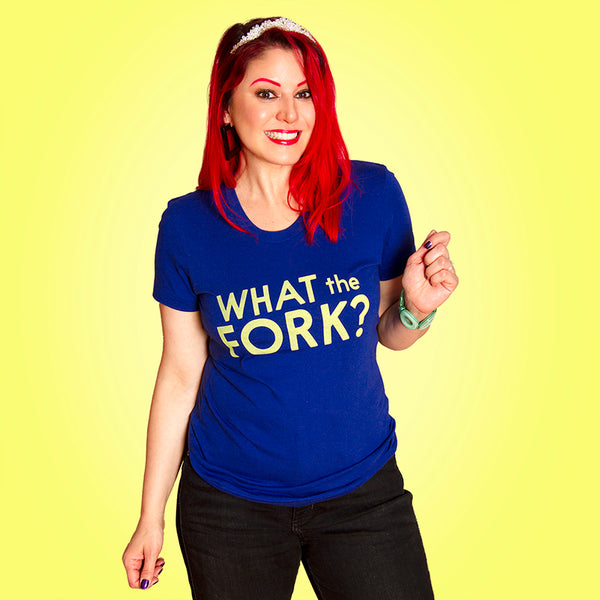 WHAT THE??  Women/Junior Fitted T-Shirt