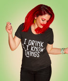 DRINK & KNOW Women/Junior Fitted T-Shirt