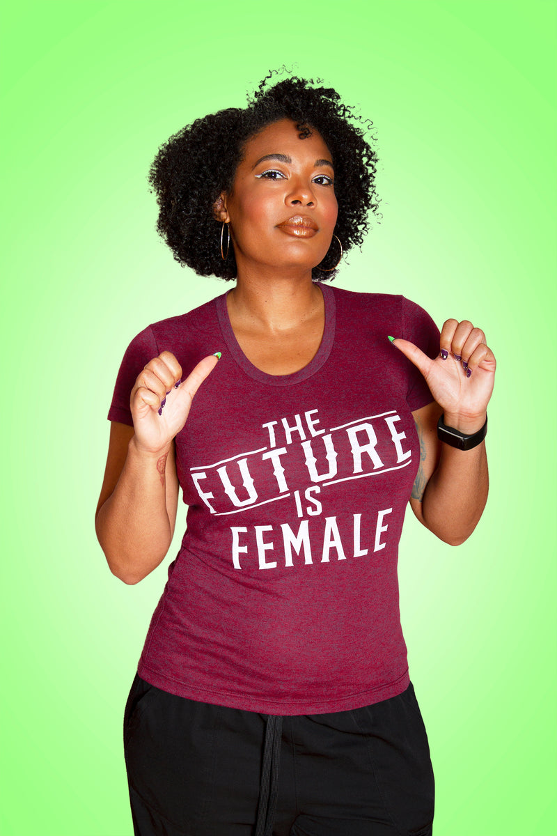 SALE -- THE FUTURE IS FEMALE Women/Junior Fitted T-Shirt