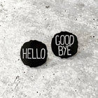 HELLO / GOOD BYE Lapel Pins