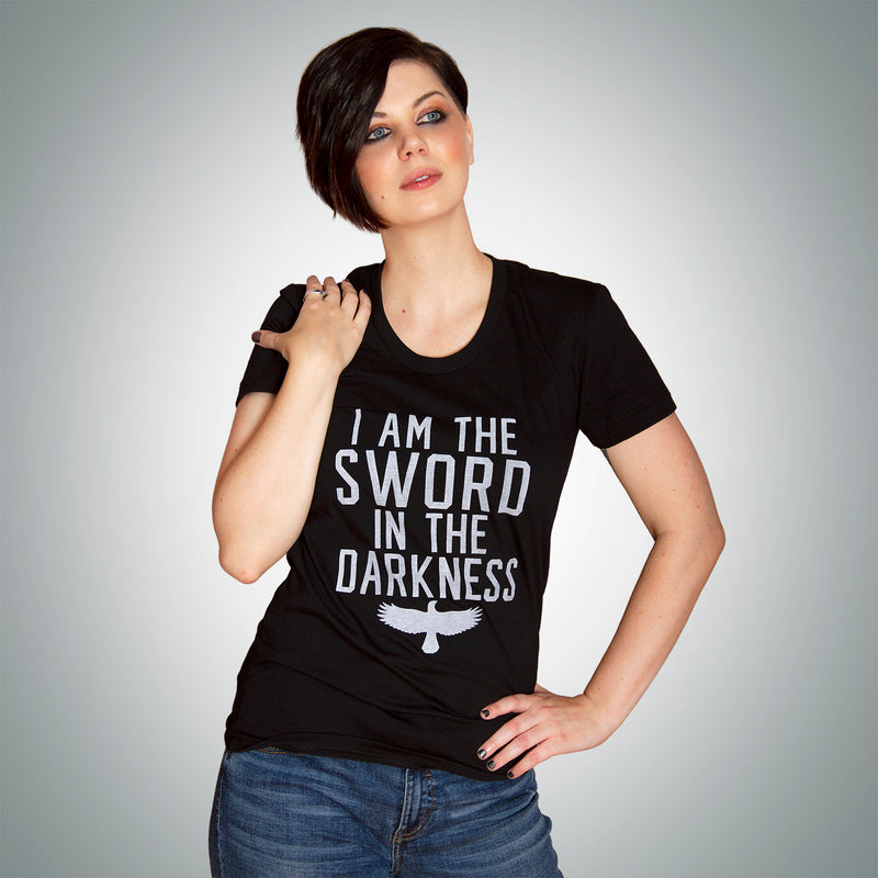 SWORD IN THE DARKNESS Women/Junior Fitted T-Shirt