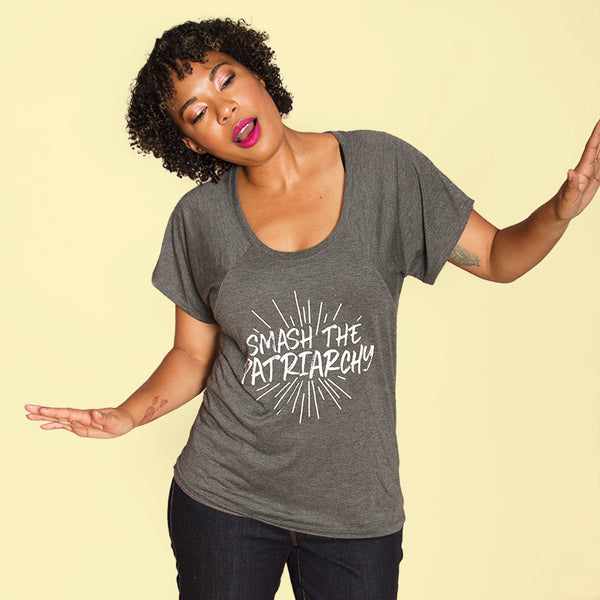 SMASH THE PATRIARCHY Women's Flowy Raglan Tee