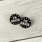 SECONDS SALE -- Ew, David Lapel Pin -- Slightly Imperfect!