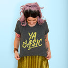 YA BASIC Women's crop shirt