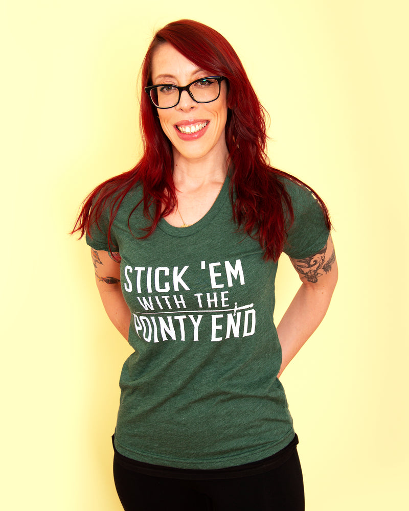THE POINTY END Women/Junior Fitted T-Shirt