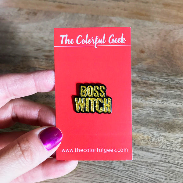 BOSS WITCH Lapel Pin