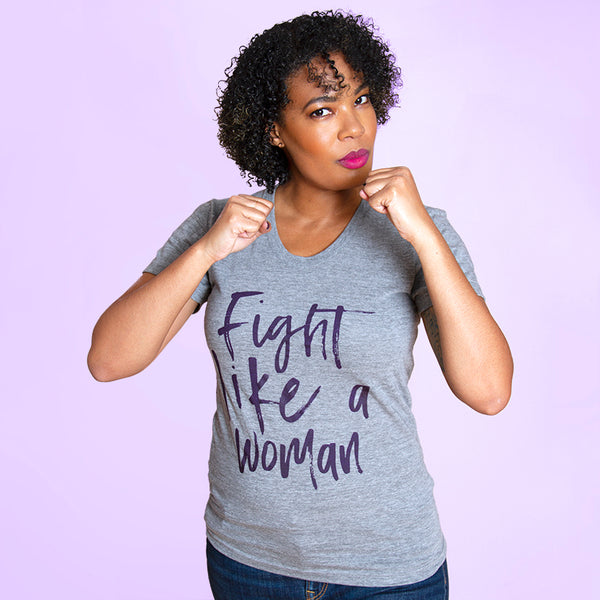 FIGHT LIKE A WOMAN Women/Junior Fitted T-Shirt