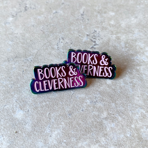 CLEVERNESS & BOOKS Lapel Pin