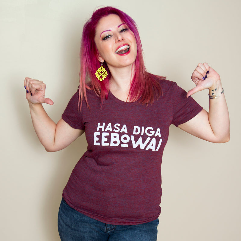 HASA DIGA EEBOWAI Women/Junior Fitted T-Shirt